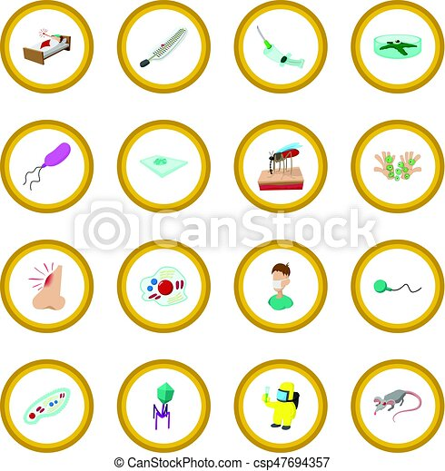Virus cartoon icon circle - csp47694357