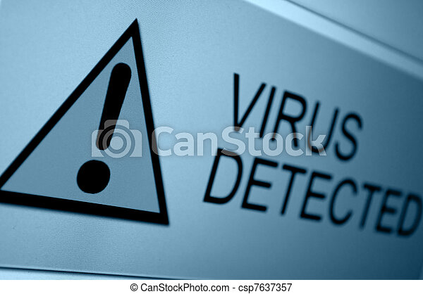 Virus Detected - csp7637357