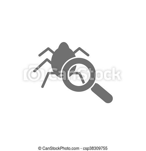 Virus scan icon - csp38309755