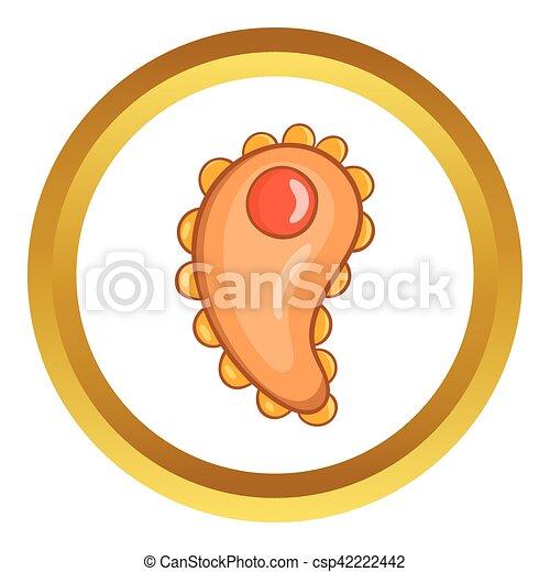 Virus vector icon - csp42222442