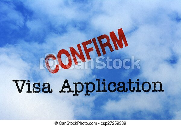 Visa application - confirm - csp27259339