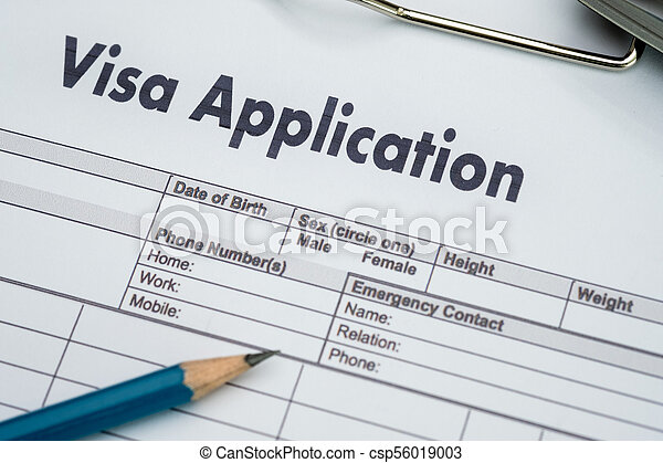 Visa Application Form To Travel Immigration A Document Money