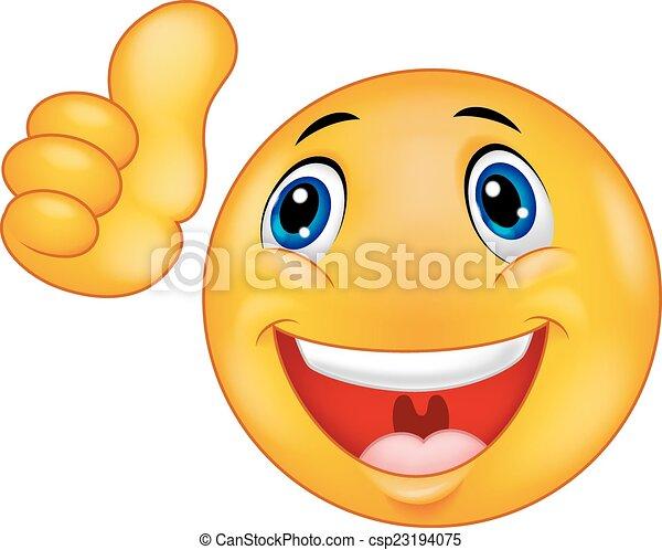 visage heureux, dessin animé, smiley, emoticon - csp23194075