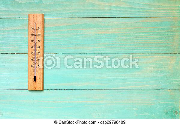 visande, temperatur, termometer, hög