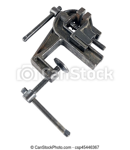 Vise tool isolated on white - csp45446367