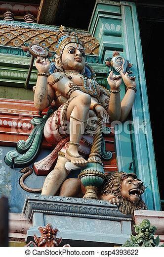 Vishnu - Supreme God in the Vaishnavite tradition of Hinduism - csp4393622
