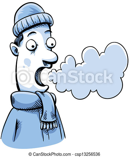 visible breath a cartoon man in cold weather can see his rh canstockphoto com deep breathing clipart breathing fire clipart