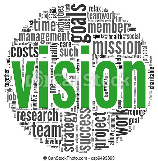 Vision concept in word tag cloud - csp9493893