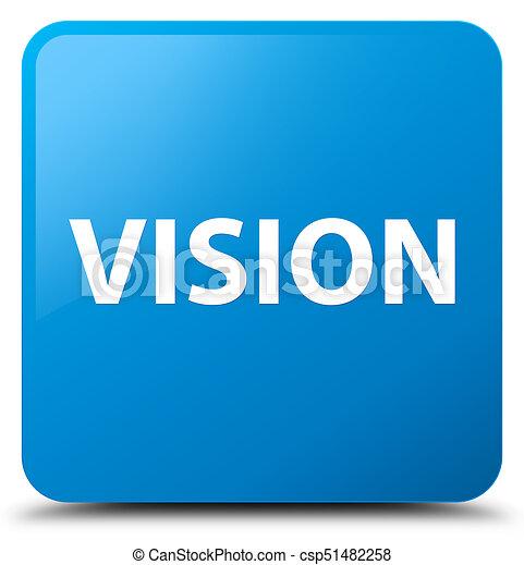 Vision cyan blue square button - csp51482258