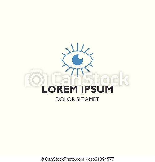 Vision eye burst vector logo icon template - csp61094577