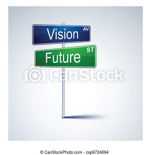Vision future direction road sign.  - csp9724694