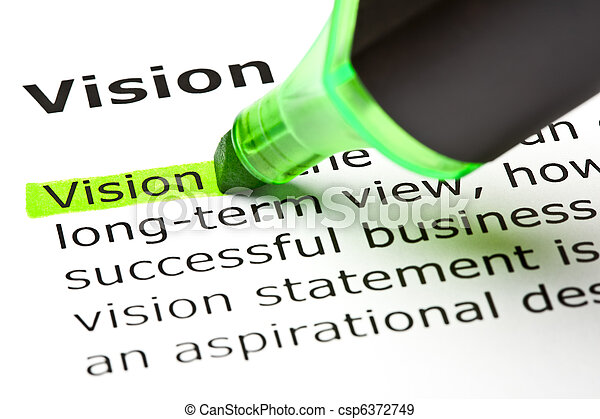 'Vision' highlighted in green - csp6372749