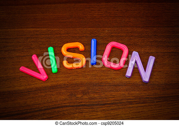 Vision in colorful toy letters - csp9205024