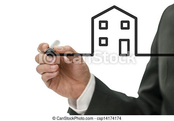 vision, nytt hus - csp14174174