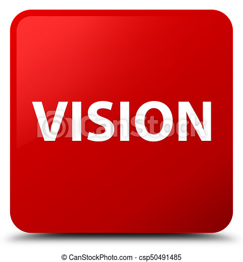 Vision red square button - csp50491485
