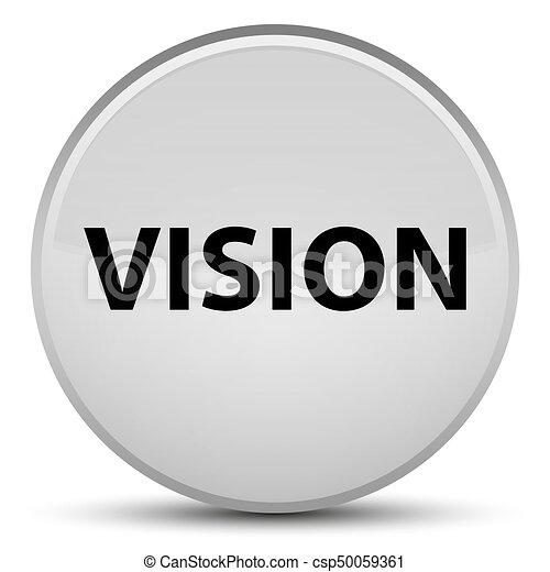 Vision special white round button - csp50059361