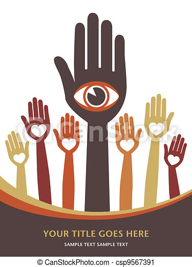 Visionary hands vector.  - csp9567391