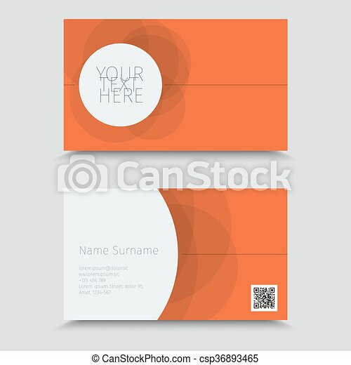 Visit card with qr code business card design clip art vector visit card with qr code business card design csp36893465 reheart Images
