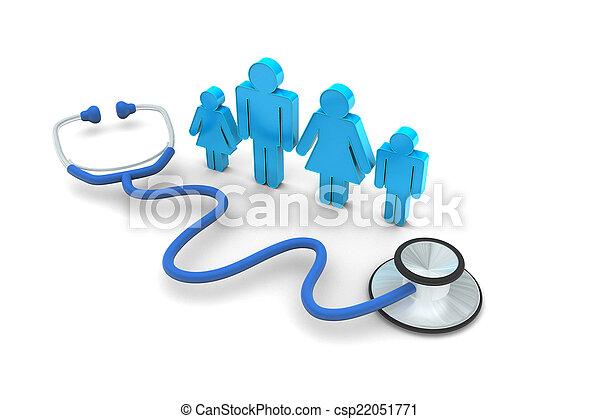 visita, doutor familiar - csp22051771