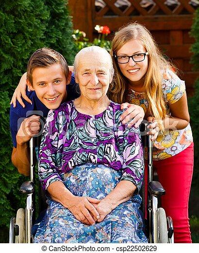 Visiting Grandmother - csp22502629