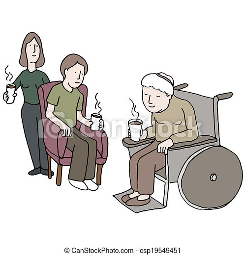 visiting nursing home an image of a family visiting someone rh canstockphoto co uk free nursing home clipart nursing home week clipart