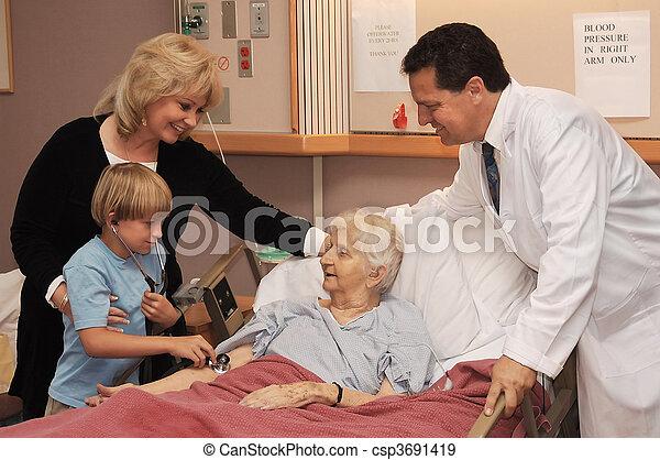 visiting nursing home - csp3691419