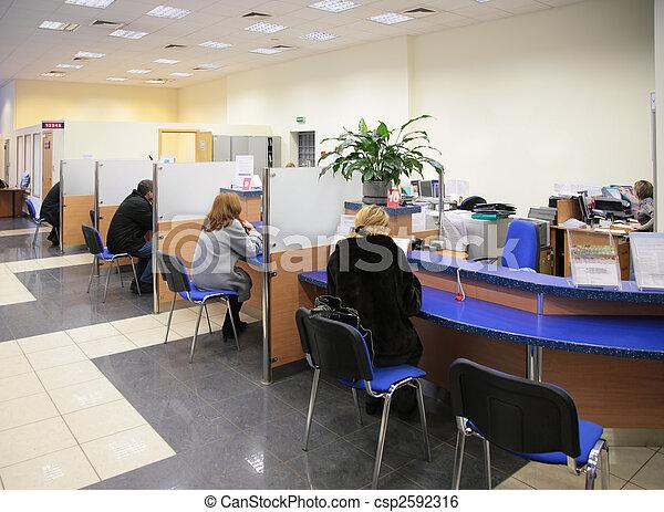 visitors in bank - csp2592316