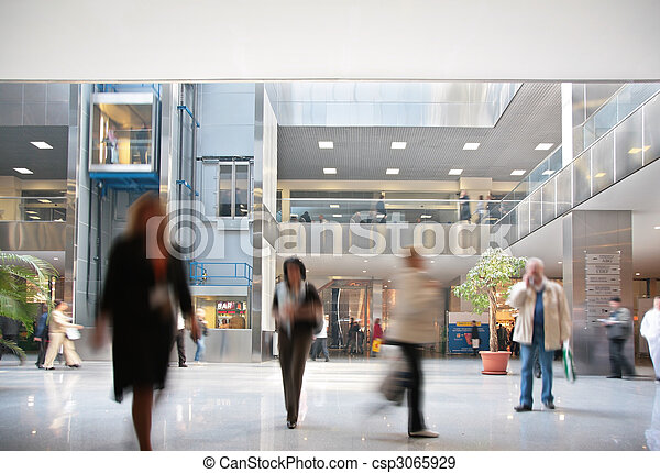 Visitors in business center - csp3065929