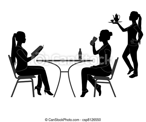 visitors of the restaurant - csp8126550
