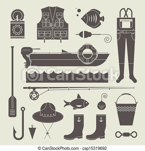 visserij, iconen - csp15319692