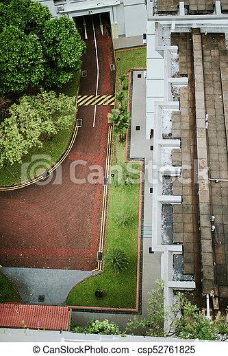 Vista aérea de los detalles de la calle en Singapur - csp52761825