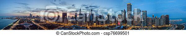 vista, chicago, contorno, zángano - csp76699501
