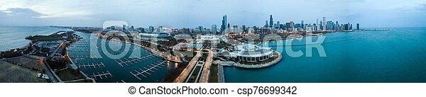 vista, chicago, contorno, zángano - csp76699342