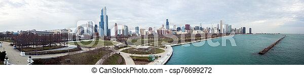 vista, chicago, contorno, zángano - csp76699272