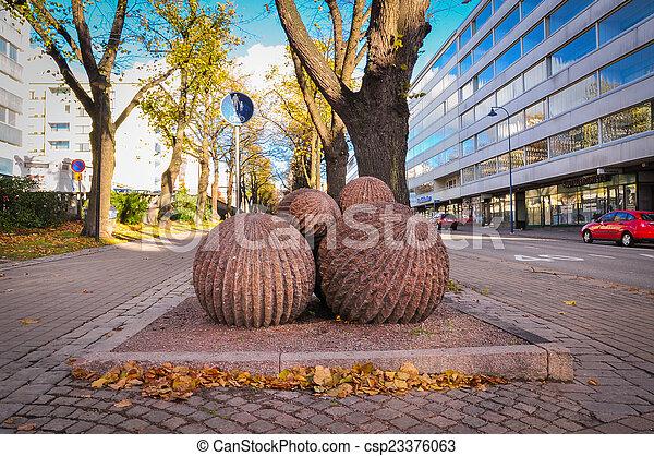 vista cidade, rua., interessante - csp23376063