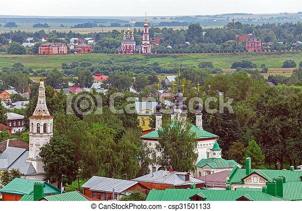 Vista aérea de Suzdal, Rusia - csp31501133