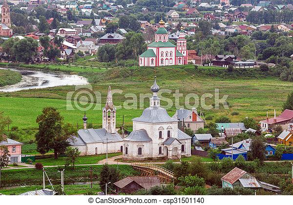 Vista aérea de Suzdal, Rusia - csp31501140