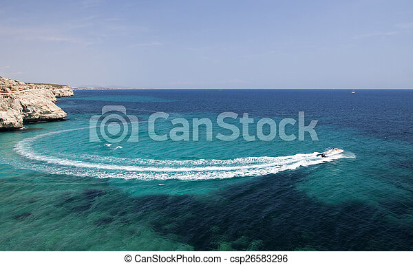 vista, mar, sacada - csp26583296