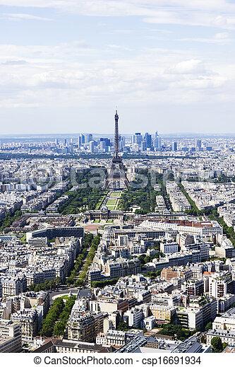vista, montparnasse, aéreo, paris, frança - csp16691934