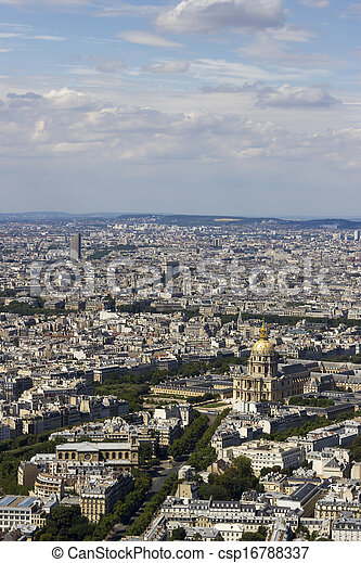 vista, montparnasse, aéreo, paris, frança - csp16788337