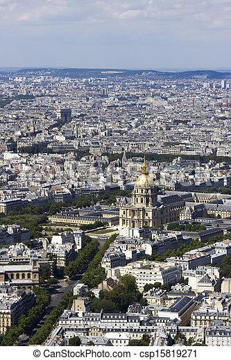 vista, montparnasse, aéreo, paris, frança - csp15819271
