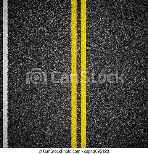 vista superiore, strada asfaltata, autostrada - csp13695128