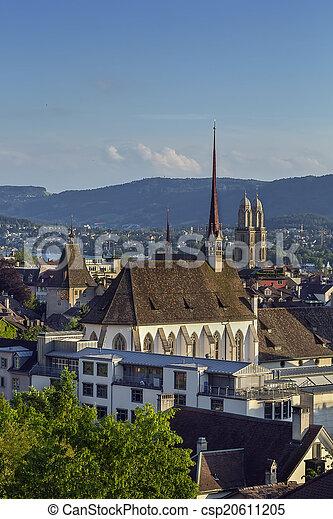 Vista de Zurich - csp20611205