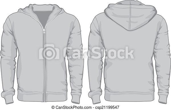 vistas, homens, costas, camisas, hoodie, frente, template. - csp21199547