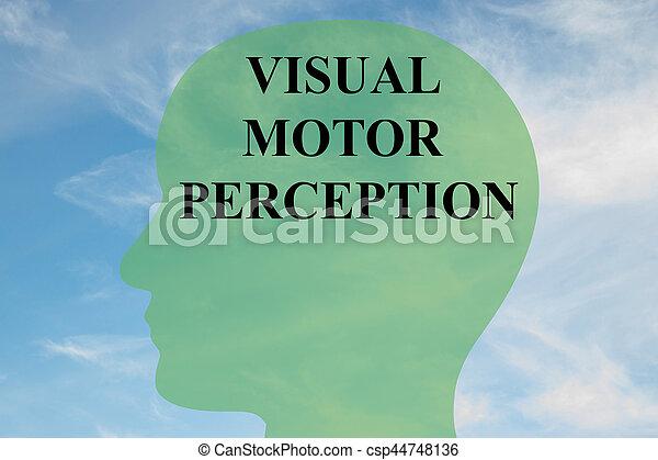 Visual Motor Perception concept - csp44748136