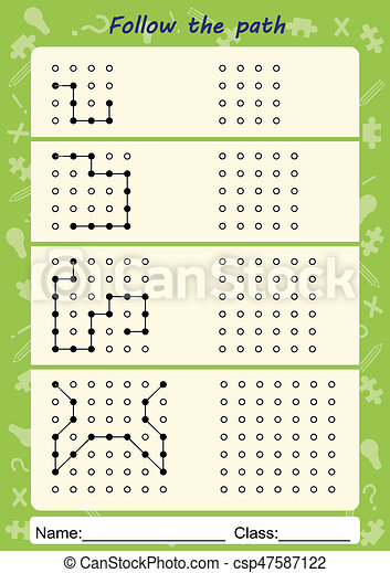 Visual Perceptual Worksheets Follow The Path Copy Pattern Visual