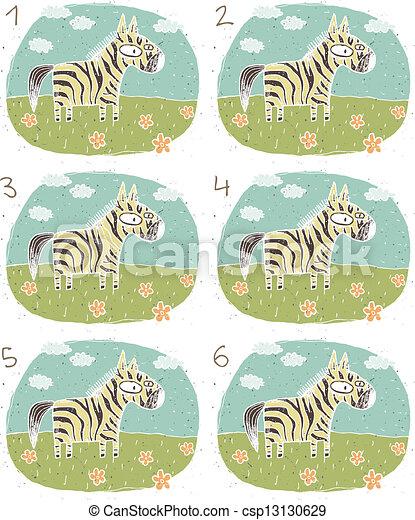 visuel, jeu, zebra - csp13130629