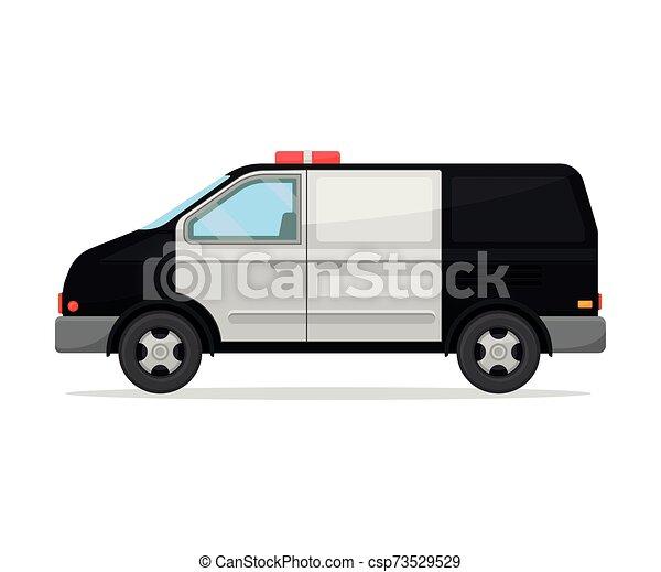 vit, bakgrund., polis, illustration, nymodig, van., vektor - csp73529529