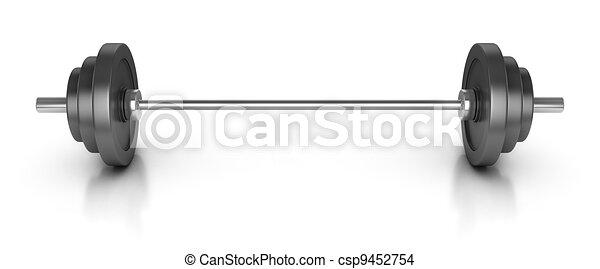vit, isolerat, vikt - csp9452754