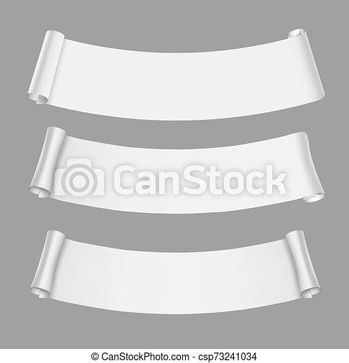 vit, rulla, papper, vektor, skev, baner - csp73241034